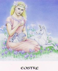 """Eostre"" from The Goddess Oracle by Marashinsky and Janto"